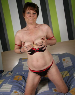 Naughty Dutch mature lady playing alone