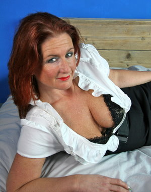 Naughty Dutch housewife getting ready to be dirty