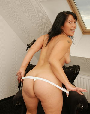 Naughty housewife enjoying herself