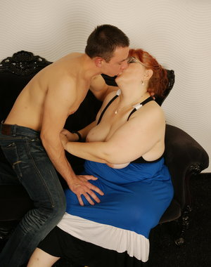 Naughty BBW and her horny Toy Boy