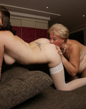 These naughty old and young lesbians are dirty as hell
