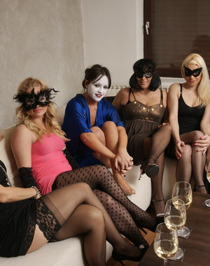 Five housewives have a special party