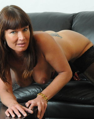 Horny MILF getting naked and dirty