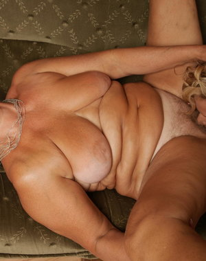 Two older lesbians share one hot babe