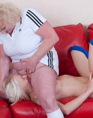 Hot babe and her strict lesbian tutor