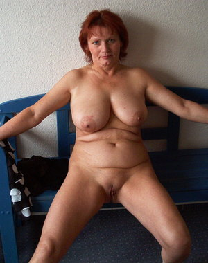 Horny mama getting naked