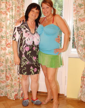 Chubby old and young lesbians get naughty
