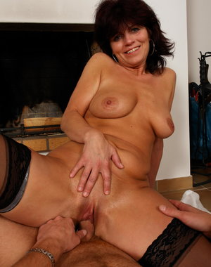 This horny housewife loves a hard cock