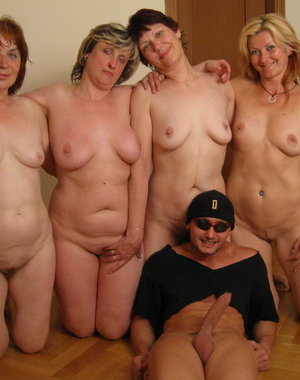 This dude loves spreading his joy all over these mature women