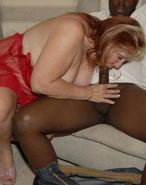 This big mama loves to munch on a black cock