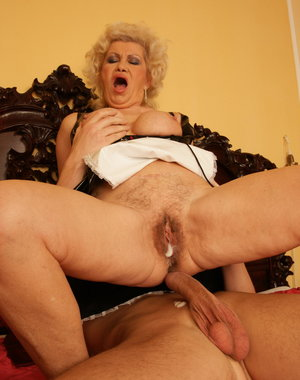 Creampie granny gets her daily fill