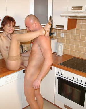 Horny housewife gets fucked all through the house
