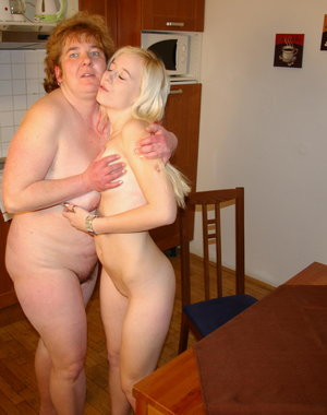 This big mature woman loves to eat fresh young pussy