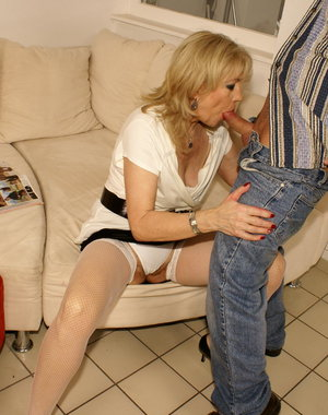 This creampie loving mama gets it good from this sicko