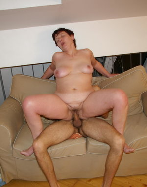 This mature slut really loves a younger cock inside of her