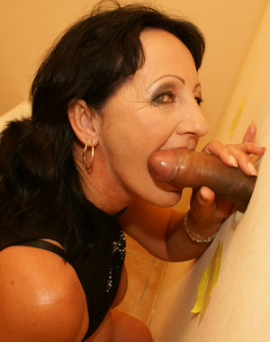 This horny mature slut wants a cock through the hole