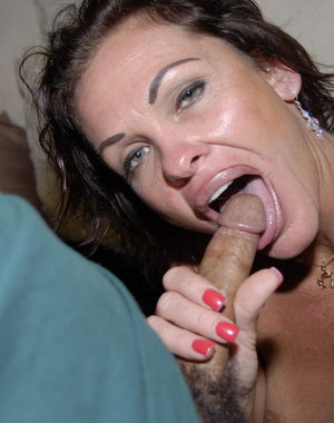 This lonely housewife loves to suck a big hard cock