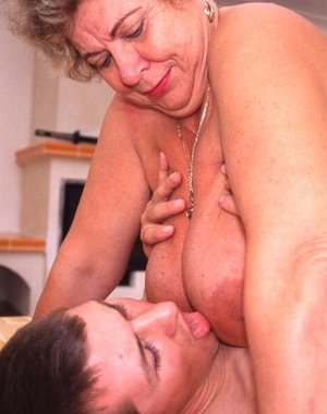 Big titted mature nympho fucking and sucking hard