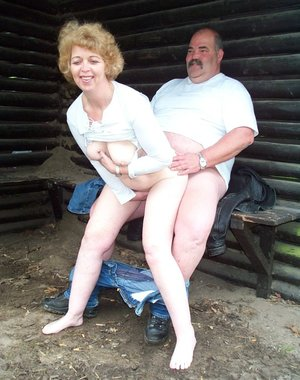 This mature couple love having sex anywhere they can