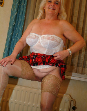 Granny loves showing her kinky stuff