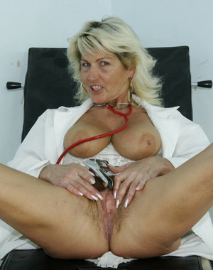 Mature nurse getting dirty with her check up