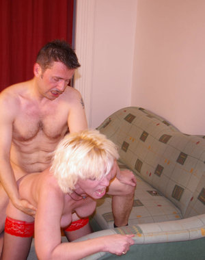 Blonde housewife getting fucked hard and long
