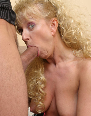 This blonde mature nympho needs a big hard cock inside her