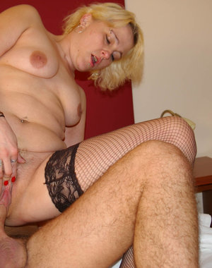 This blonde horny housewife just loves cock
