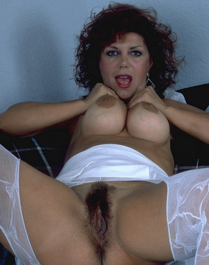 This hairy mature housewife is hot and nasty