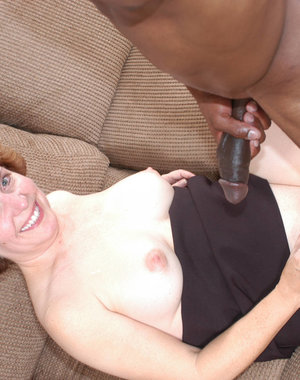 This kinky housewife just loves a big black cock