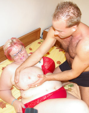 Horny big titted mature slut getting real action