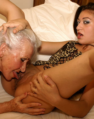 Granny tucks in her hot naughty girl next door, who has a special surprise