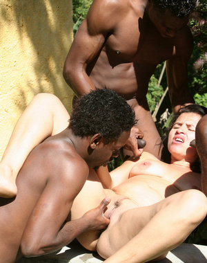 Get a load of black cocks in your mature holes