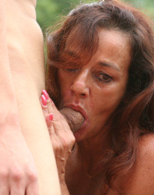 This horny old slut loves to get fisted all the time