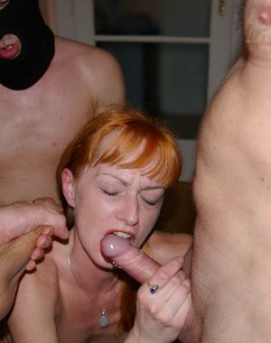 Cum fetching mature sluts in action