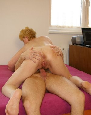 Horny granny gets a fuck like she never had before
