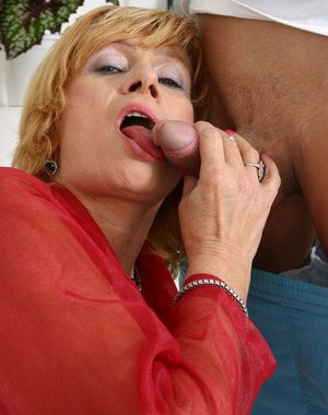 Kinky granny fucked by a younger dude