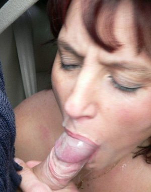 Hot sucking sex in a car and in the open air