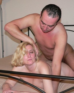 Blonde mature slut gets some hard cock to please her