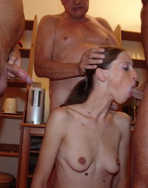 Chantal gets banged by the older gang