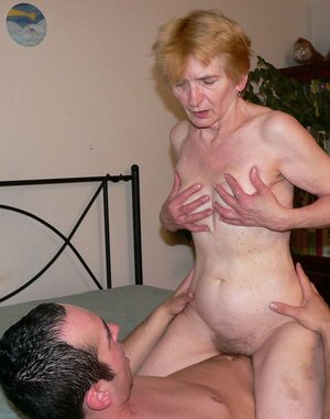 Horny granny gets fucked in all kind of ways