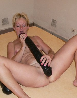 trying to put this huge dildo everywhere