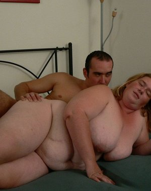 fat mature gets fucked and eats cum