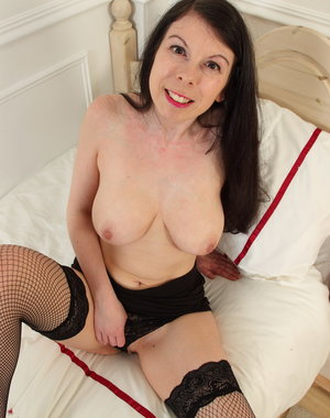 Naughty British housewife getting very frisky