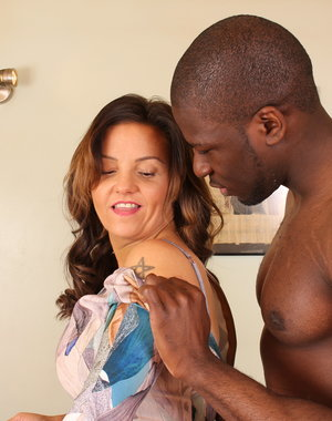 Hot British MILF going at it with a strapping black guy