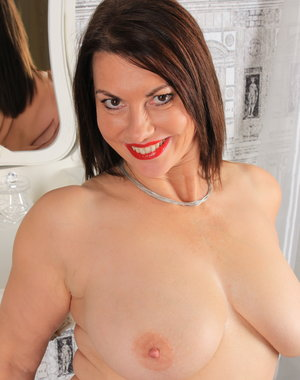 Horny British MILF playing with herself