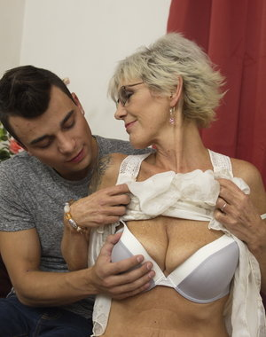 Older lady loves a young cock