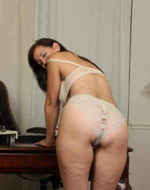Naughty American housewife playing alone
