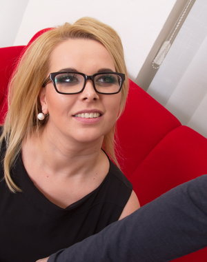 Blonde mom doing it in POV style