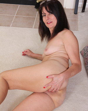 Horny American housewife playing alone
